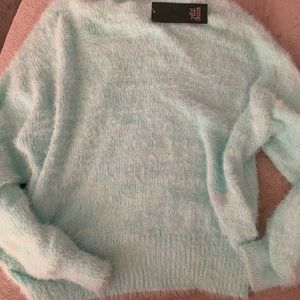Wild Fable- Baby blue Fuzzy sweater
